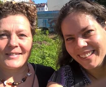 Andrea und Doro - NeuLand-Delegation in Leipzig